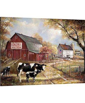 Memories On The Farm Canvas Wall Art Print Barn Artwork 0 300x360