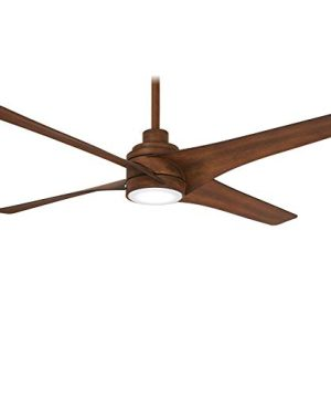 Minka Aire F543L DK Swept 56 Inch Ceiling Fan With Integrated 20W LED Dimmable Light In Distressed Koa Finish 0 300x360