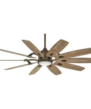 Minka Aire F864L HBZ Barn 65 Ceiling Fan With LED Light And DC Motor In Heirloom Bronze Finish 0 300x360