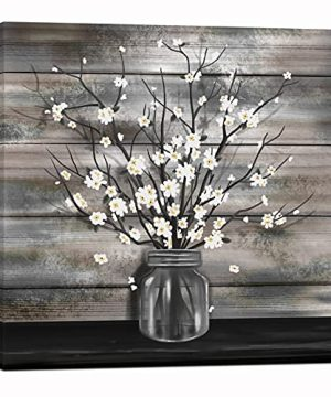 Nachic Wall Vintage Flower Wall Art Vase Flower Painting Picture Prints Canvas Rustic Farmhouse Floral Artwork For Farm Living Room Kitchen Bathroom Wall Decor Framed Artwork Ready To Hang 24x24 Inch 0 300x360