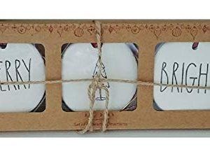 Rae Dunn Artisan Collection By Magenta Merry Bright With Christmas Tree Holiday Ornaments LL Set Of 3 0 300x230