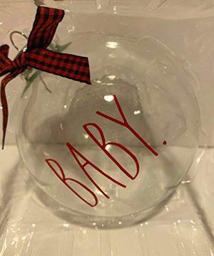 Rae Dunn BABY Glass Christmas Tree Ornament Holiday Season Gift 2020 Edition 0 300x360