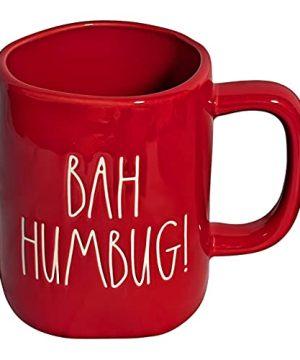 Rae Dunn BAH HUMBUG Red 16oz Christmas Holiday Ceramic Mug W White LL 0 300x360