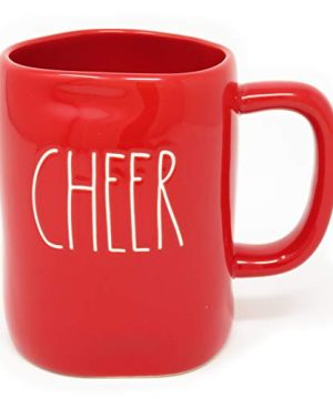 Rae Dunn Cheer Christmas Holiday Red Coffee Tea Mug Artisan Collection By Magenta LL 0 300x360