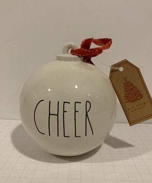 Rae Dunn Cheer Christmas Tree Or Tabletop Ornament Ceramic 5 Inc Diemeter 0 300x360