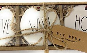 Rae Dunn Christmas Holiday Ornaments Set Of 3 Believe Wish Hope 0 300x182