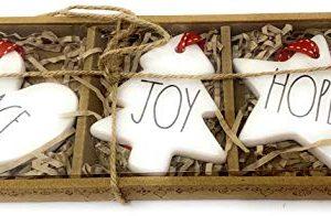 Rae Dunn Christmas Holiday Ornaments Set Of 3 Peace Joy Hope 0 300x196