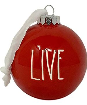 Rae Dunn Christmas Ornaments By Magenta Artisan Collection Live Laugh Love 3 Beautiful Red Ornaments With Large White Letters That Will Make Your Christmas Tree A Delight For Everyone To See 0 300x360