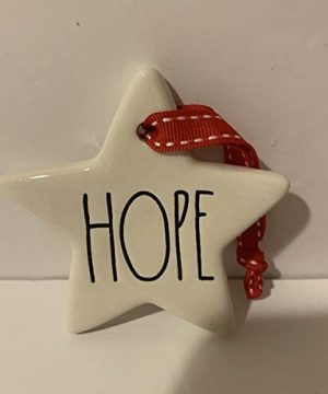 Rae Dunn HOPE Christmas Tree Ornament Ceramic 3 In Diameter 0 300x360