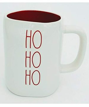Rae Dunn Ho Ho Ho With Red Lettering And Interior Christmas Holiday Coffee Tea Mug Artisan Collection By Magenta LL 0 300x360