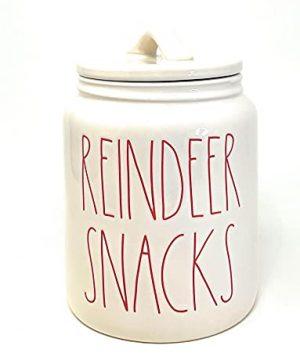 Rae Dunn Kitchen Christmas Canister Reindeer Snacks 0 300x360