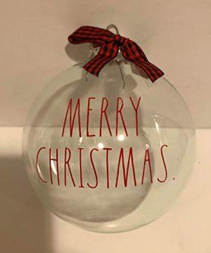Rae Dunn MERRY CHRISTMAS Glass Christmas Tree Ornament Holiday Season Gift 2020 Edition 0 300x360