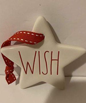 Rae Dunn WISH Christmas Tree Ornament Ceramic 3 In Diameter 0 300x360