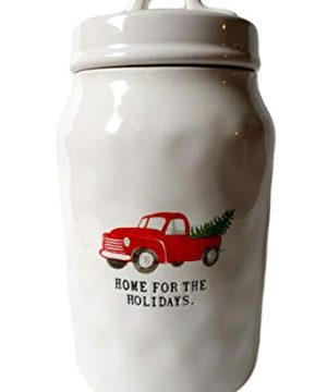 Rae Magenta Dunn Christmas Home For The Holidays Red Truck Canister 95 H 0 300x360