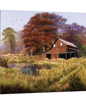 Red Barn Canvas Wall Art Print Barn Artwork 0 300x360