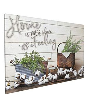 Rustic Wall Art Farmhouse Home Is Not A Place Wall Decor Canvas Family Country Themed Painting Giclee Matte Prints Home Decor For Kitchen Bedroom Living Room Bathroom Ready To Hang16x24 In 0 300x360
