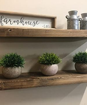 SDI Designs Floating Shelves Natural Rustic Farmhouse Shelf Set Wood Wall Mounted Shelves For Bathroom Kitchen Living And Bedroom Smoked Walnut 36 Inch 0 300x360