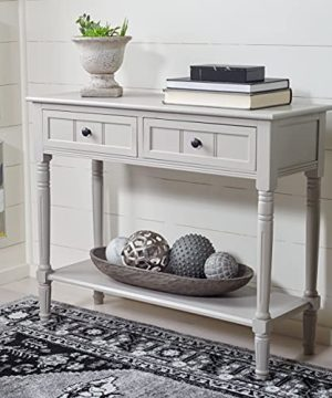 Safavieh American Homes Collection Samantha Vintage Grey 2 Drawer Console Table 0 300x360