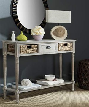 Safavieh Home Collection Christa Vintage White 3 Drawer Storage Console Table 0 300x360