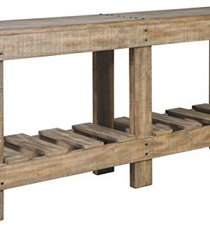 Signature Design By Ashley Susandeer Rustic Farmhouse Console Sofa Table Brown 0 300x331