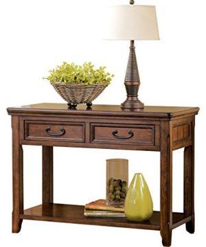 Signature Design By Ashley Woodboro Traditional Console Sofa Table Dark Brown 0 300x360
