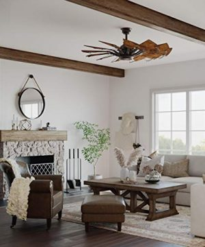 Springer Collection 52 Inch 12 Blade Architectural Bronze DC Motor Farmhouse Windmill Ceiling Fan 0 300x360
