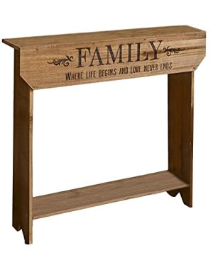 The Lakeside Collection Farmhouse Sentiment Console Table Family Rustic Country Decor 0 300x360