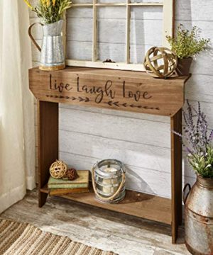 The Lakeside Collection Farmhouse Sentiment Console Table With Live Laugh Love Inscribed 0 300x360