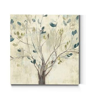 Tree Wall Art Modern Painting Home Decor Landscape Nature Canvas Artwork For Living Room Bedroom Bathroom Kitchen Ready To Hang Trees Of Blue I 16 H X16 W 0 300x360