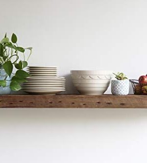 Urban Legacy Reclaimed Barn Wood Shelves Amish Handcrafted In Lancaster PA Rustic Floating Industrial Brackets High Weight Capacity Set Of 2 Natural Low Profile Bracket 48 X 11 X 3 0 300x333