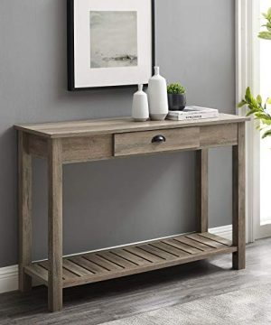 Walker Edison Rustic Wood Farmhouse Entryway Accent Table With Storage Drawer Entry Table Living Room End Table 48 Inch Grey 0 300x360