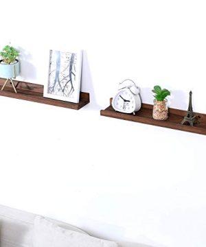 Wood Floating Shelves Picture Ledge Shelf Rustic Style Set For 2 Kitchen Farmhouse Bathroom Decor 0 300x360